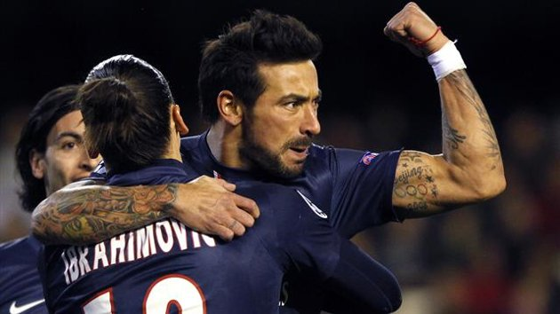Ezequiel Lavezzi scored against Valencia for PSG