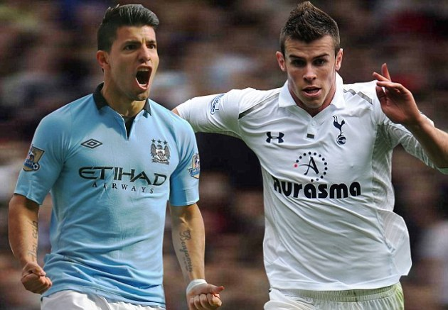 Sergio Aguero and Gareth Bale