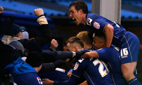 Oldham celebrate win over Liverpool